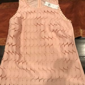 Ann Taylor peach lace overlay sleeveless top,size4